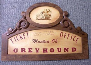 Vintage Greyhound Sign Reproduction