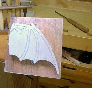 Bat Wing Clock